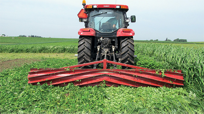 Rolling Crimping Can Help No Tillers Use Covers Better