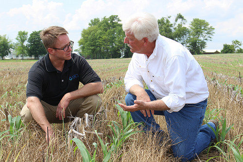 Ray McCormick (right) talks with NRCS Chief Jason Weller about his experience using Conservation Client Gateway.