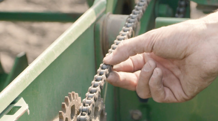 Precision planting checking chains