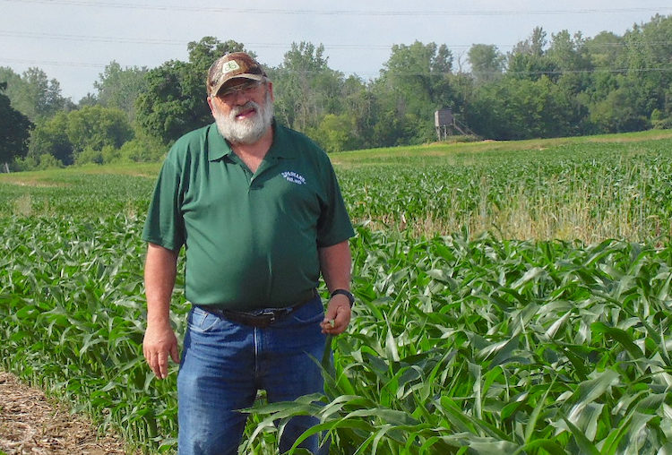 Jerry Grigar in the field