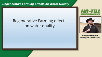 Regenerative Farming Effects on Water Quality